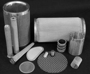 Filterelementer rustfri stål, udarbejdet til opgaven