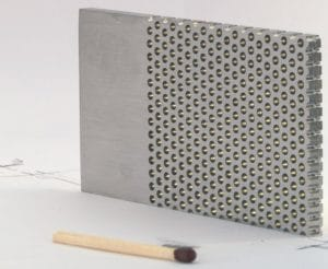 Mikro perforeret stålplade med skalamål