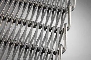 Type 100 stål Trådtransportbånd med bukket kant